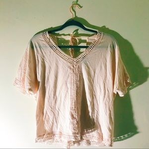 Pale Pink Nordstrom Blouse